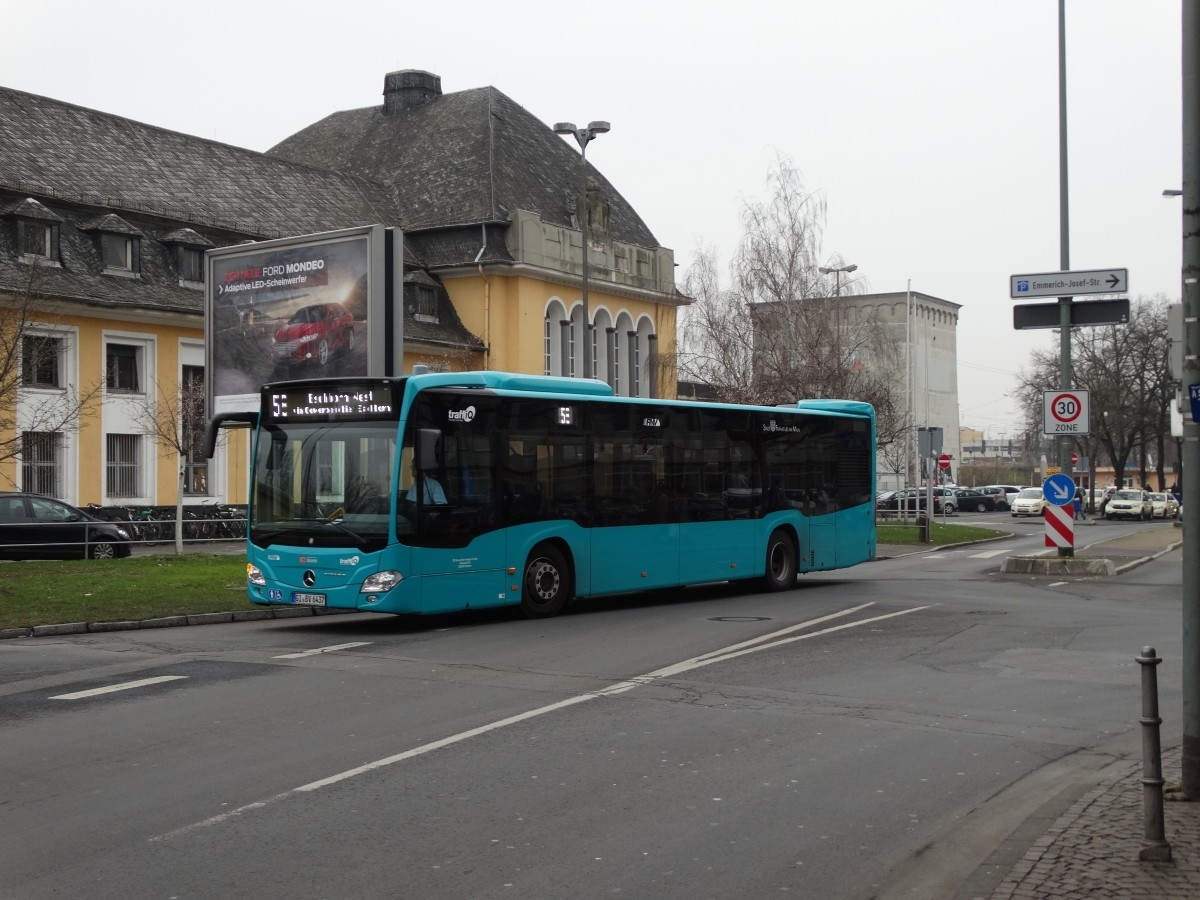 db hessen bus mercedes benz citaro c2 437 am in frankfurt h chst bus. Black Bedroom Furniture Sets. Home Design Ideas