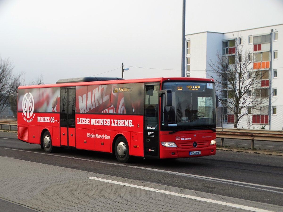 db rhein mosel bus mercedes benz integro als shuttle verkehr in mainz am bus. Black Bedroom Furniture Sets. Home Design Ideas