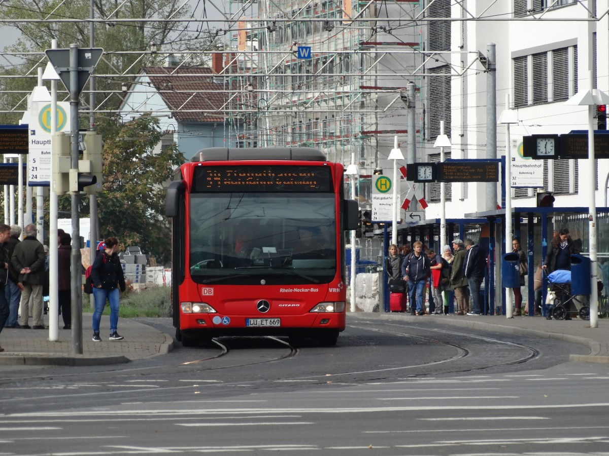 DB Rhein Neckar Bus Mercedes Benz Citaro C1 Facelift am 09.10.15 in Heidelberg