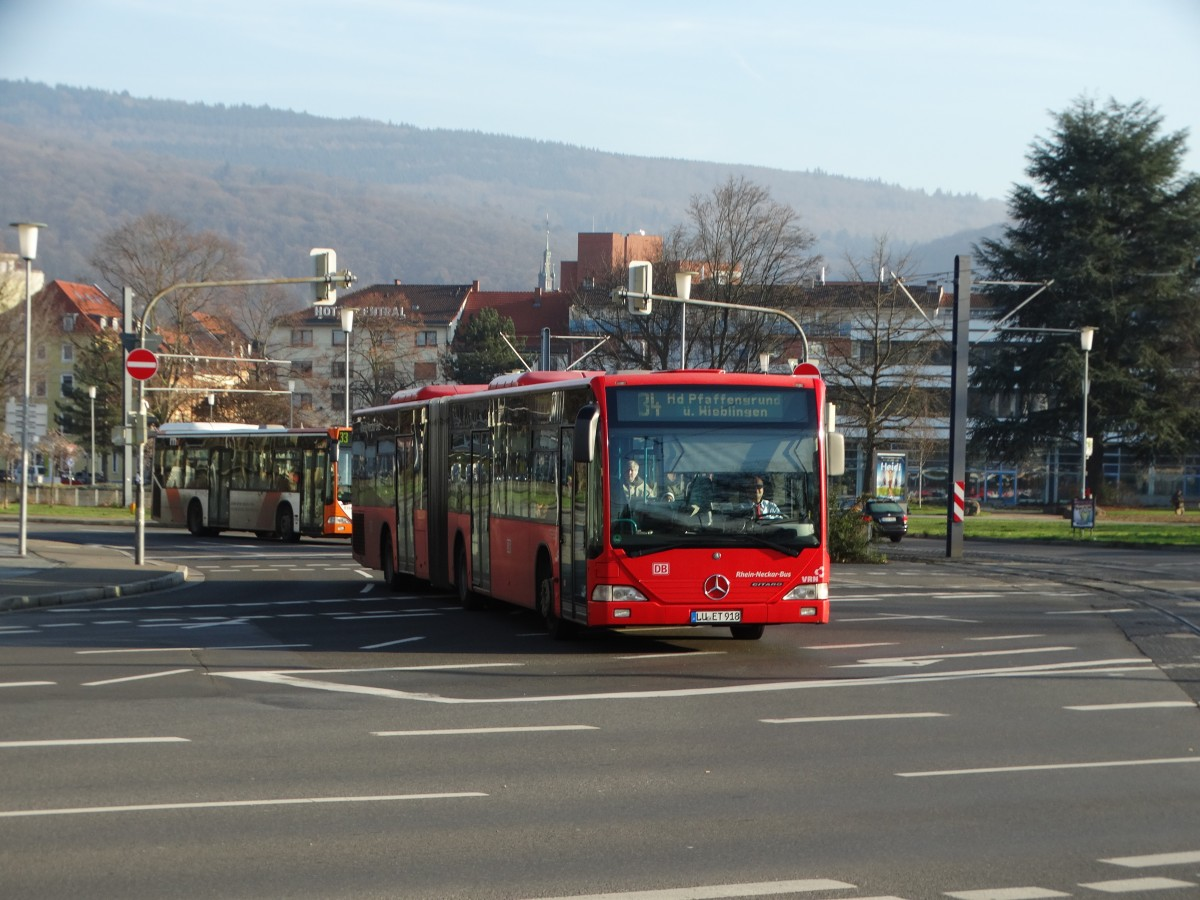 DB Rhein Neckar Bus Mercedes Benz Citaro C1 G am 10.12.15 in Heidelberg