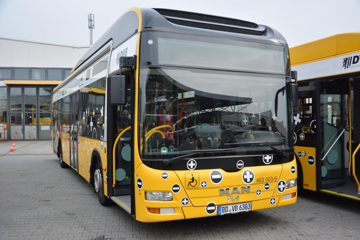 dd vb 6303 463 003 6 ist ein hybrid bus von man aufgenommen am 100 jahre omnibus. Black Bedroom Furniture Sets. Home Design Ideas