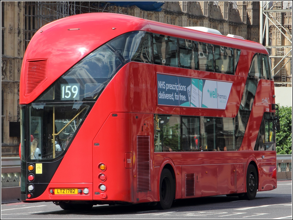 Ein New Routemaster (LT782) der Abellio in London. 06.06.2019