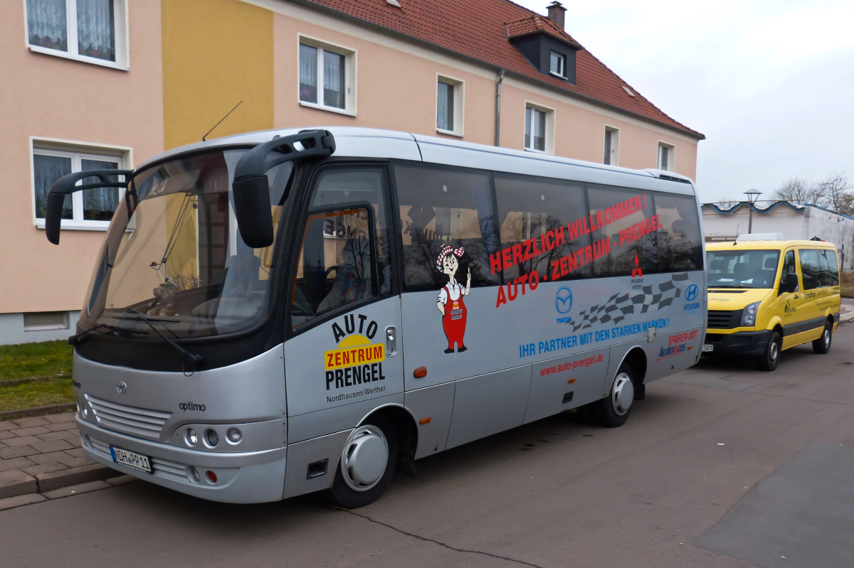 Ein Toyota Caetano Optima Bus am 12.03.2016 in Nordhausen.