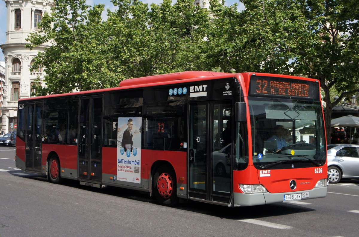 Emt valencia stadtbus mercedes benz citaro facelift for Mercedes benz of valencia