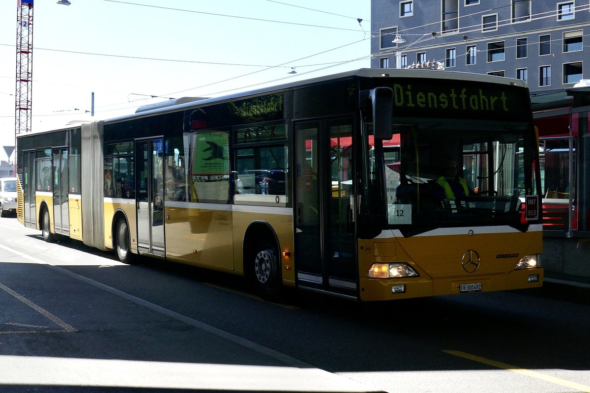 Ex PostAuto MB Citaro G von Intertours am 6.8.20 in Bern Europaplatz.