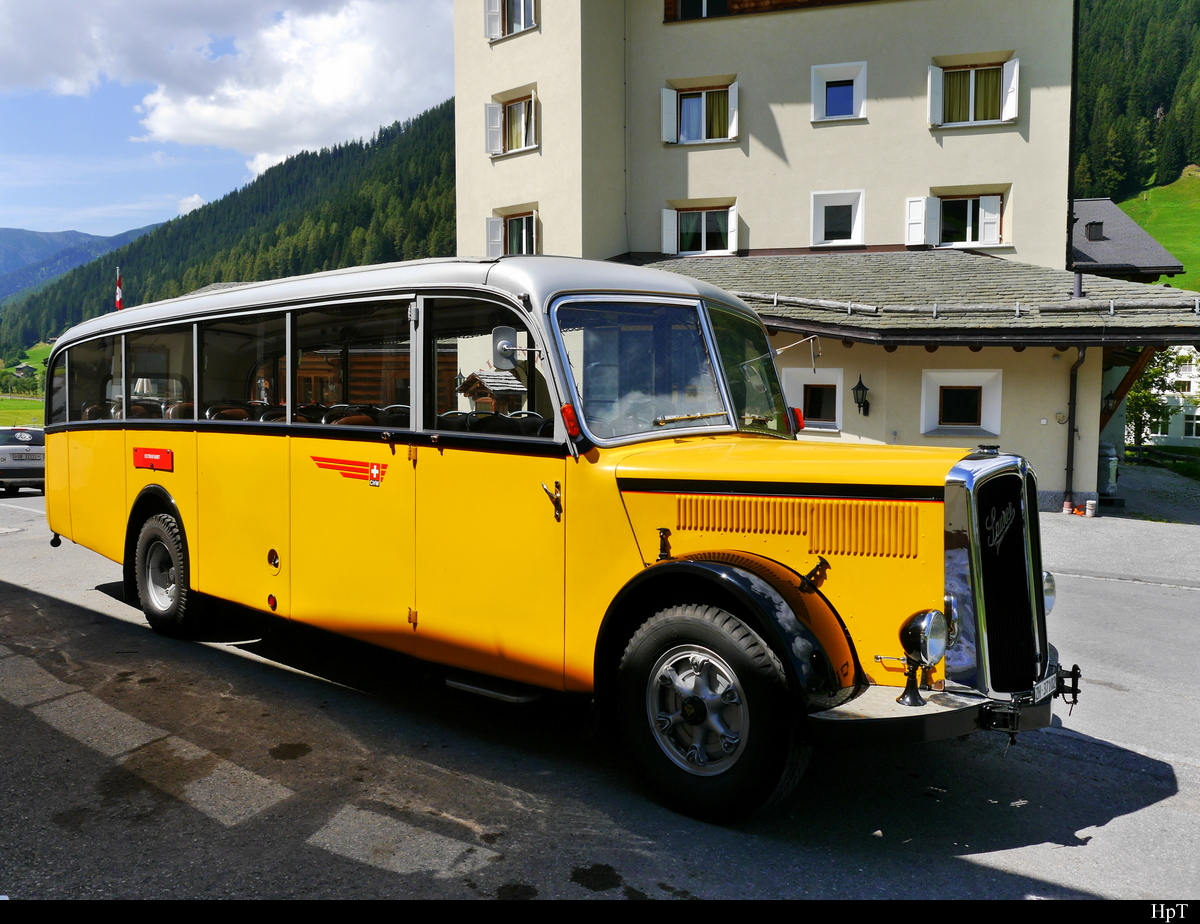 ex Postauto - Saurer  ZH 37102 in Davos am 30.07.2018