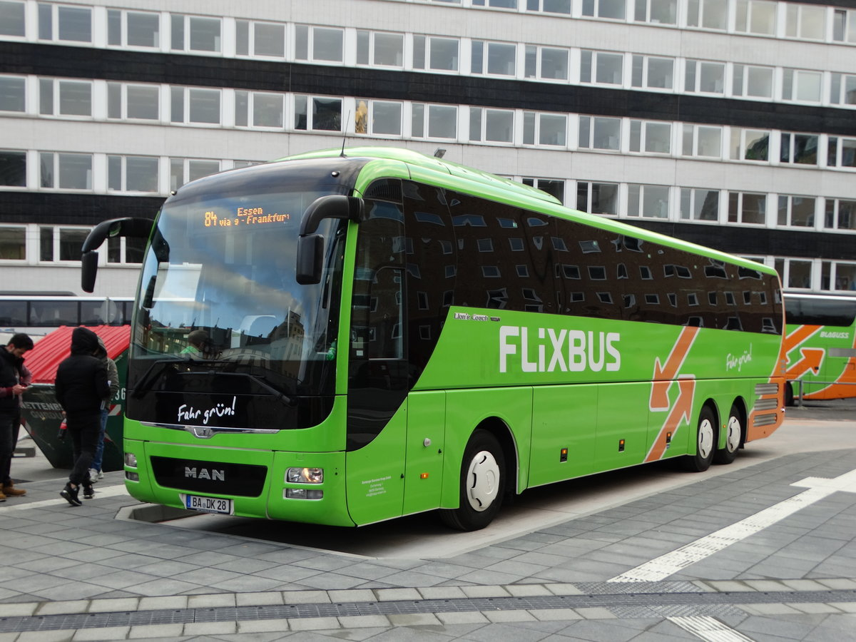 flixbus man lions coach am in frankfurt am main am neuen busbahnhof an der s dseite de. Black Bedroom Furniture Sets. Home Design Ideas