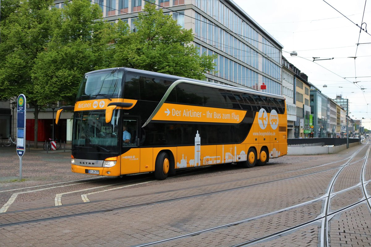 HEAG mobiBus Setra Airliner am 18.05.19 in Darmstadt