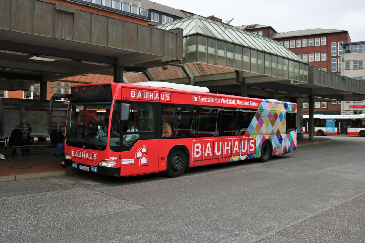 Hochbahn Hamburg Mercedes Benz Citaro 1 Facelift Wagen 8182 am 15.07.19 in Altona