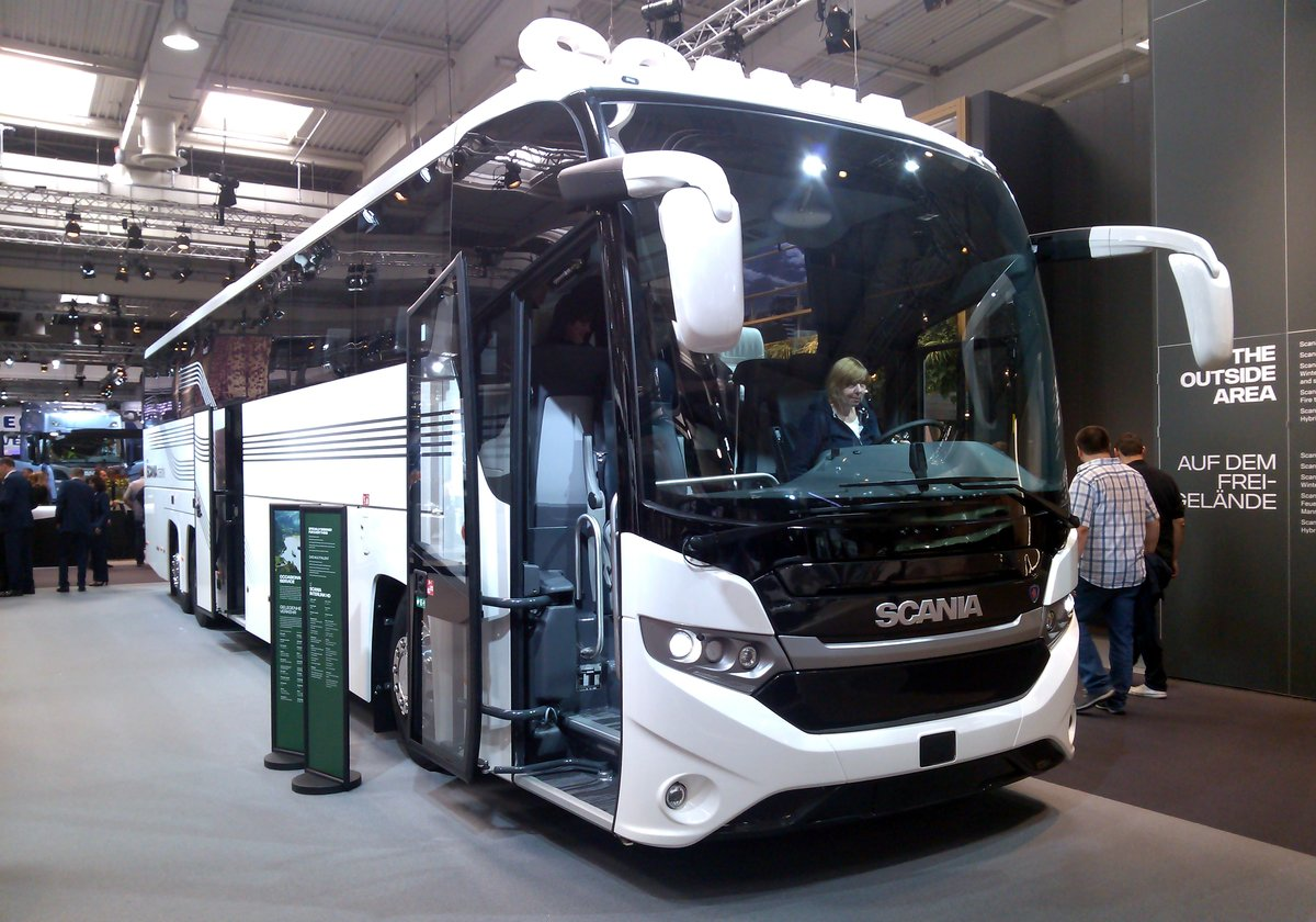 iaa 2016 in hannover zu sehen hier ein scania reisebus. Black Bedroom Furniture Sets. Home Design Ideas