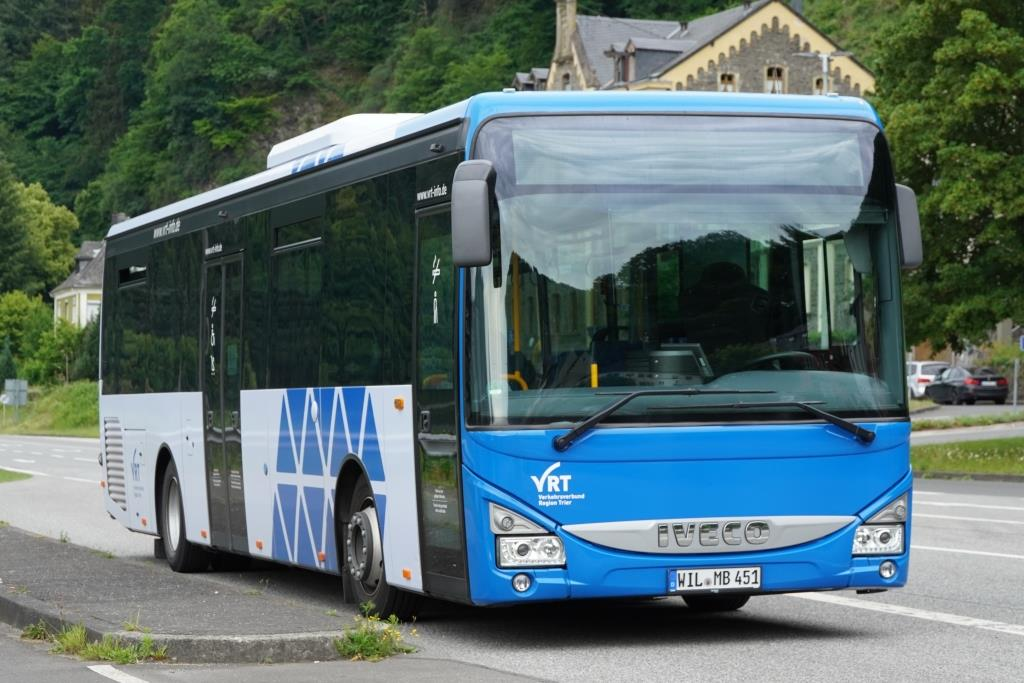 Iveco Bus Crossway LE  VRT Moselbahn , Traben-Trarbach Juni 2020