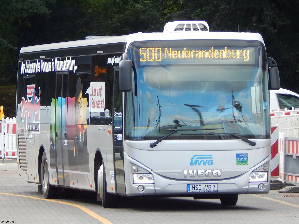 Iveco Crossway der MVVG in Neubrandenburg am 15.09.2017