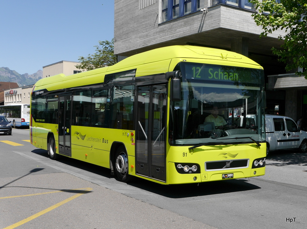 Bus volvo 7700 hybrid nr 91 fl 39891 in buchs sg am 19 05 2014 bus