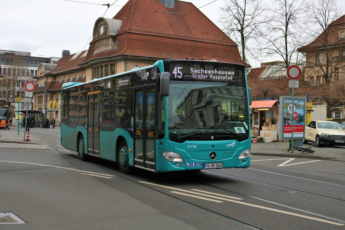 MainBus Mercedes Benz Citaro K am 09.03.19 in Frankfurt am Main Südbahnhof