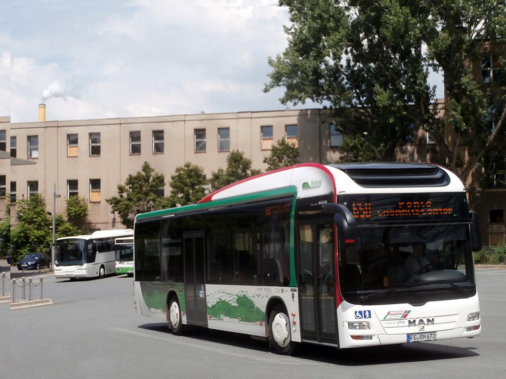 man hybrid der regiobus mittlsachsen auf der linie 650 in chemnitz omnibusbahnhof 27. Black Bedroom Furniture Sets. Home Design Ideas