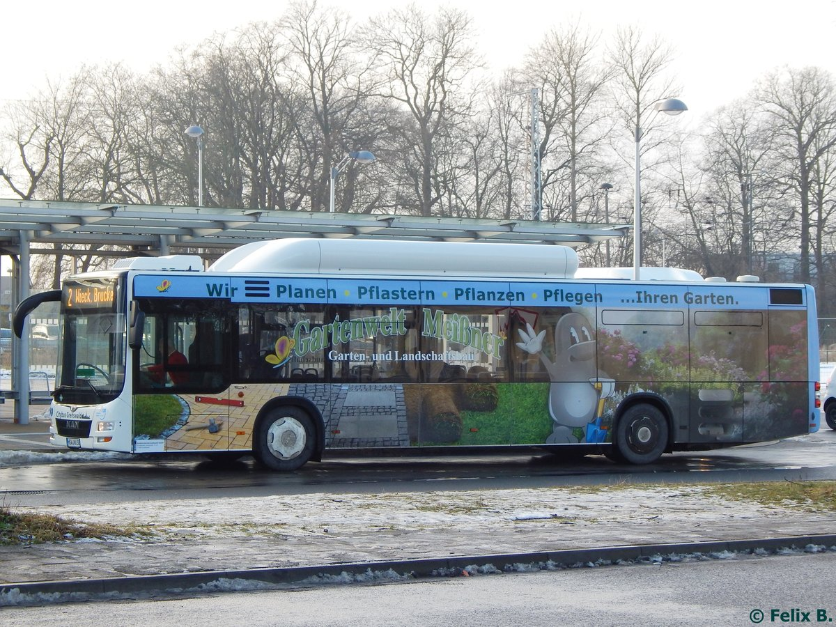 MAN Lion's City CNG der Stadtwerke Greifswald in Greifswald am 20.01.2017