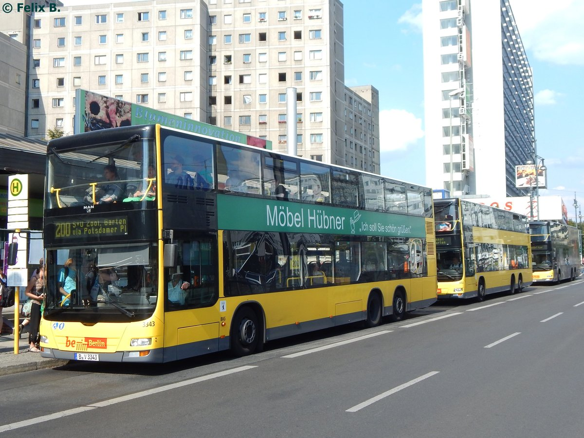 MAN Lion's City DD der BVG in Berlin am 23.08.2015