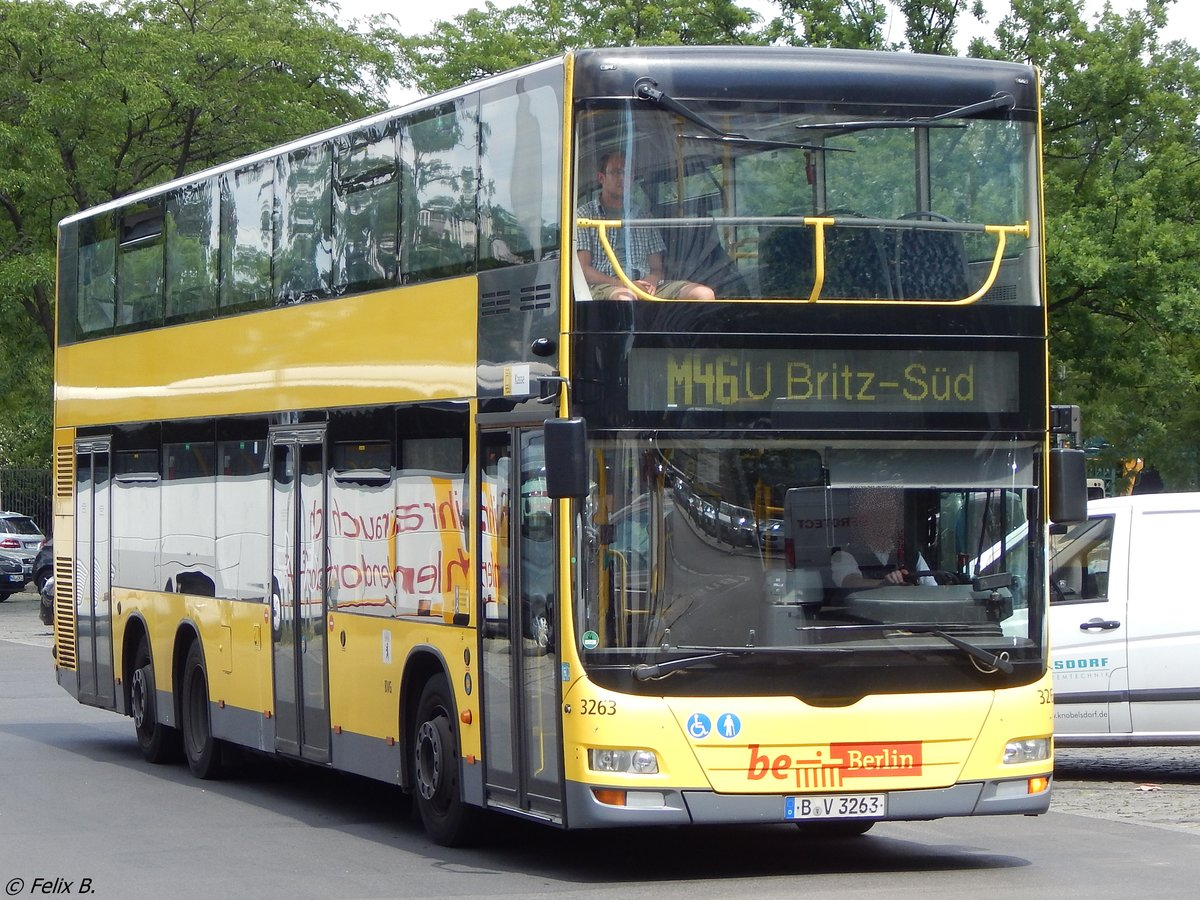 MAN Lion's City DD der BVG in Berlin am 10.06.2016