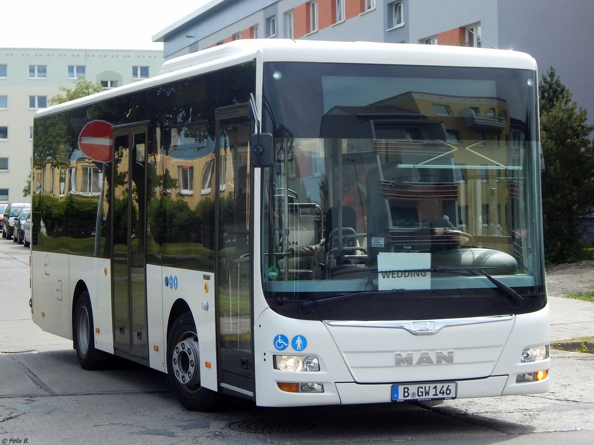MAN Lion's City Midi Vorführbus aus Berlin in Sassnitz am 25.06.2015