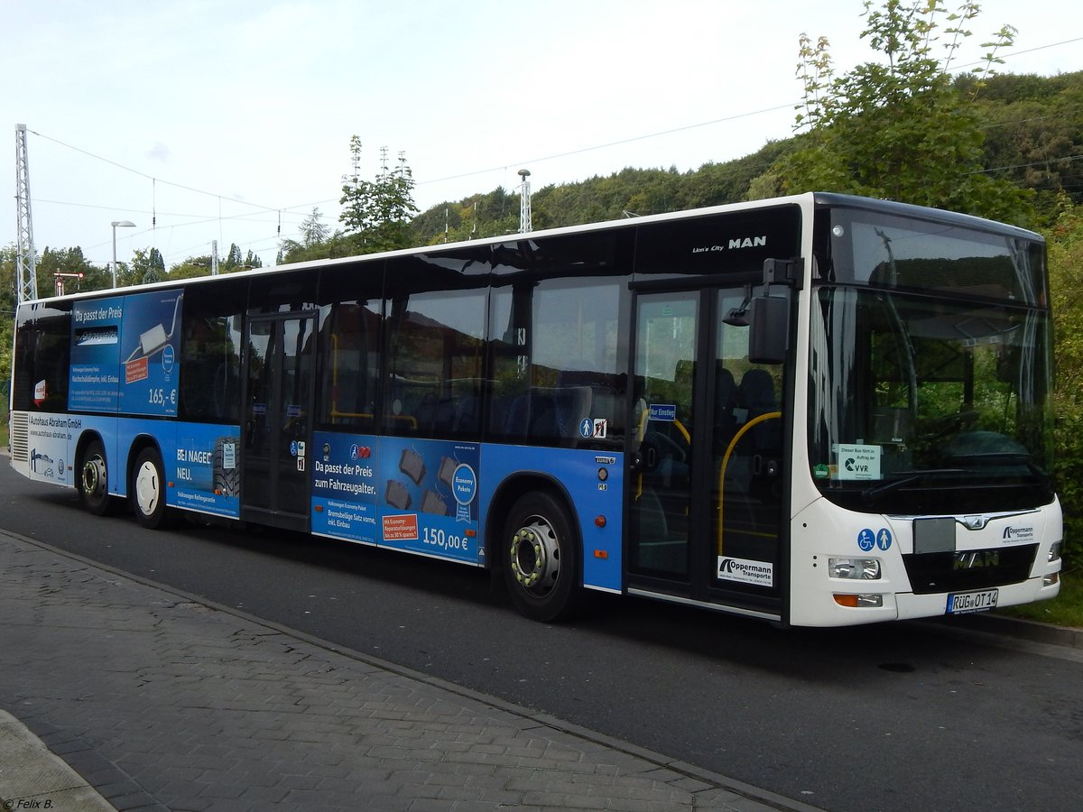 MAN Lion's City der Oppermann Transporte aus Deutschland in Sassnitz am 26.08.2017