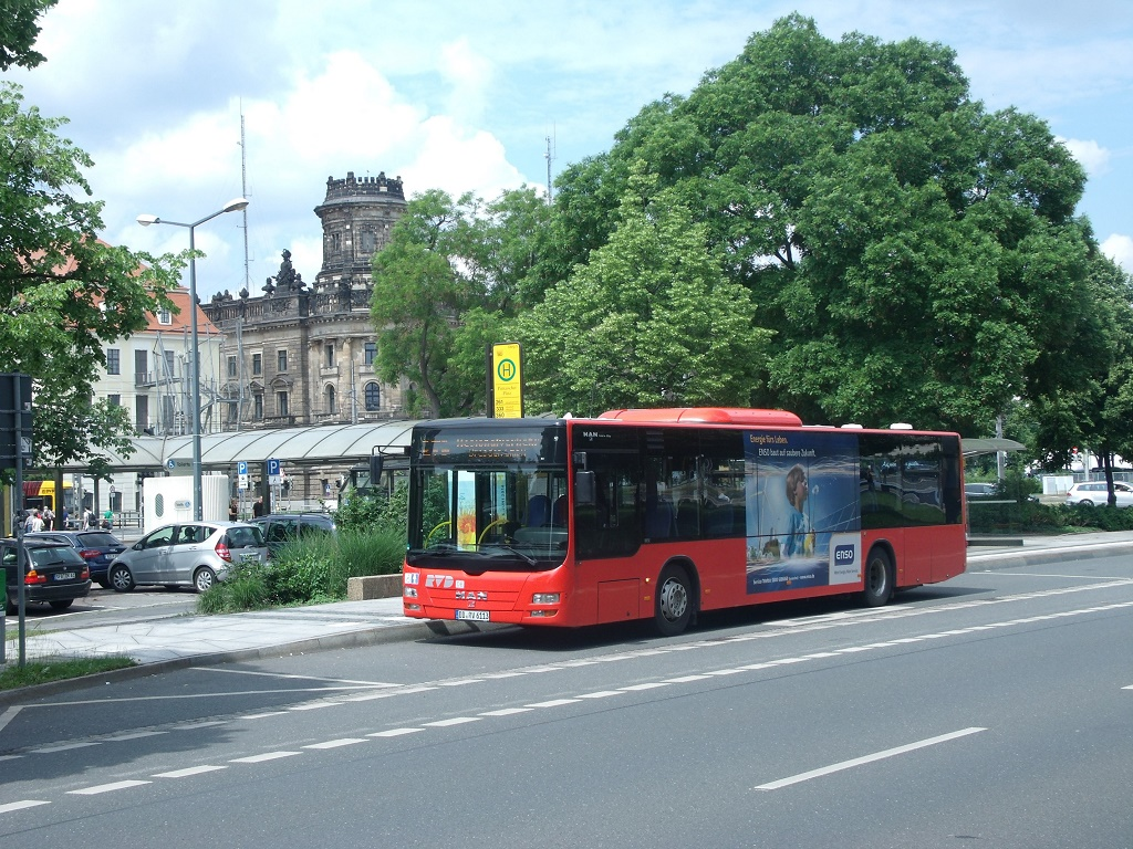 MAN NÜ 323 Lion´s City Ü - DD RV 6113 - Wagen 6113 - in Dresden, St. Petersburger Straße - am 4-Juni 2016