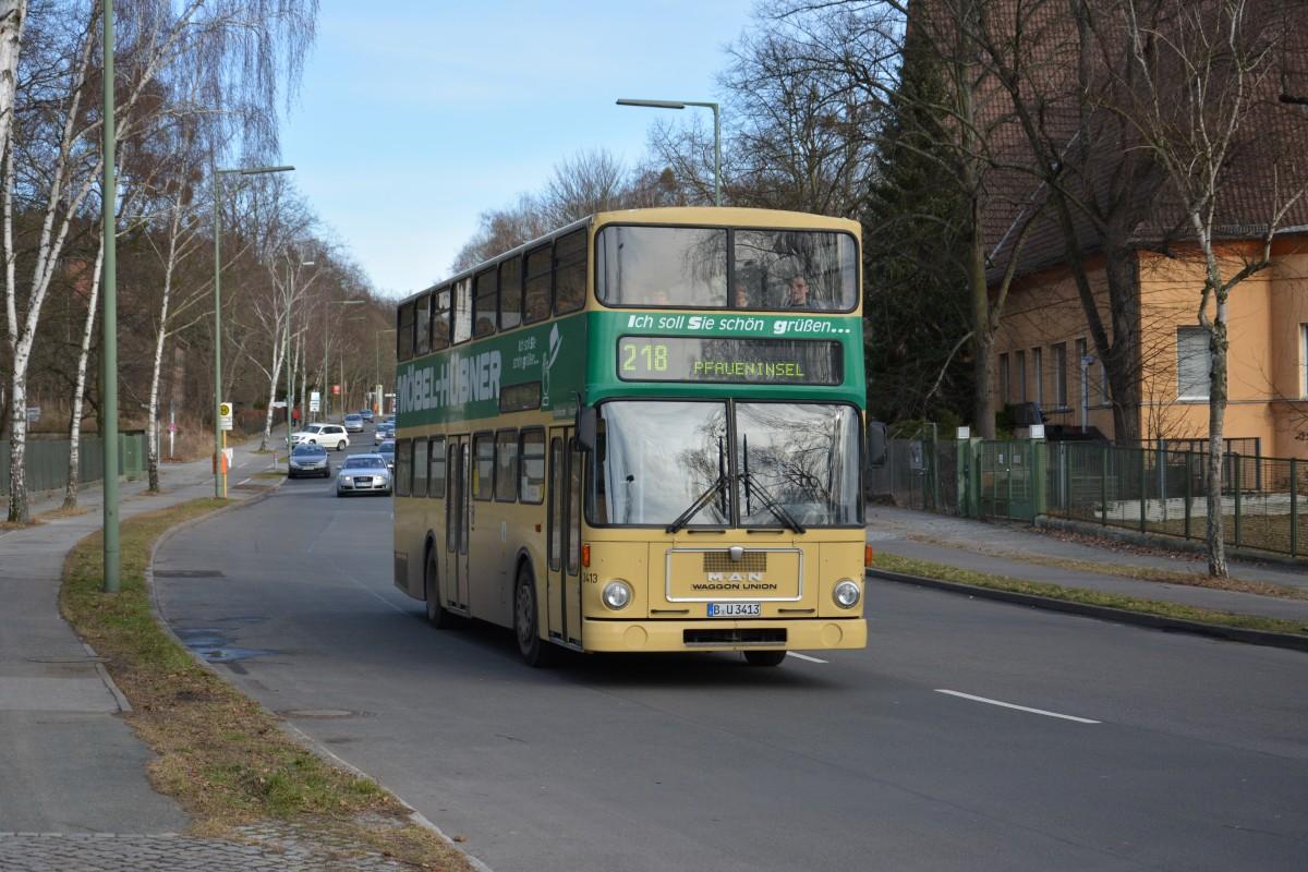 man sd 200 sd85 traditionsbus berlin auf der linie 218 nach pfaueninsel aufgenommen am. Black Bedroom Furniture Sets. Home Design Ideas