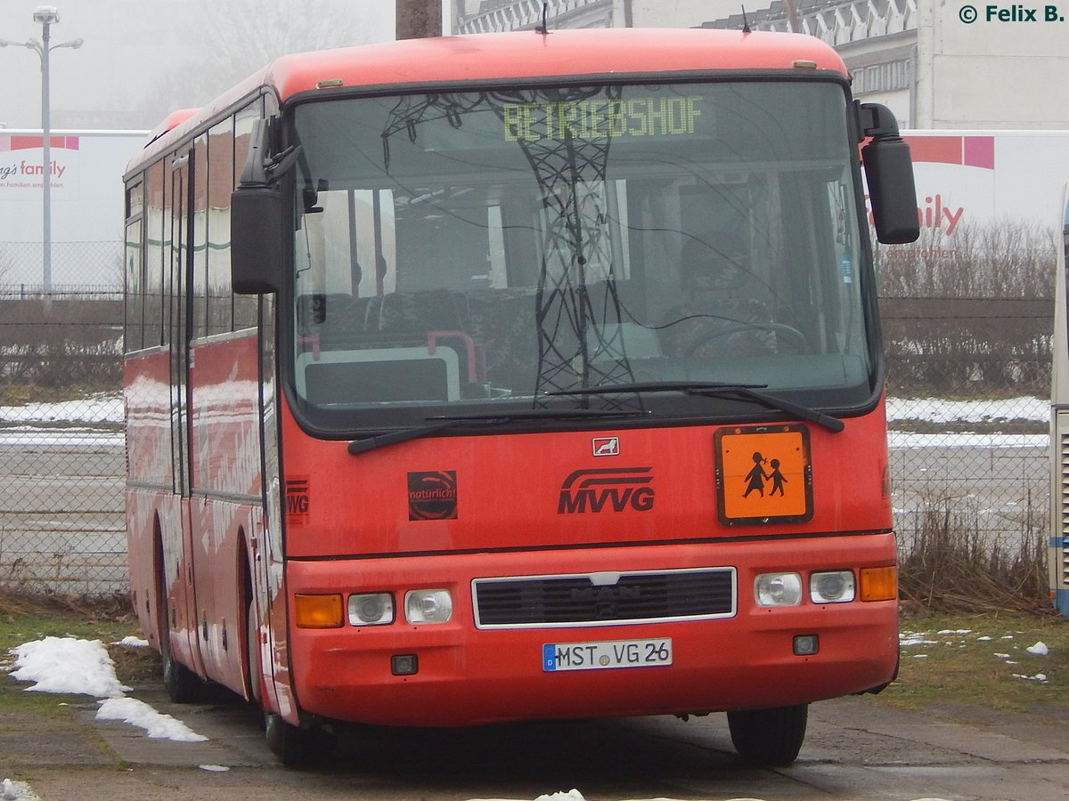 MAN ÜL 313 der MVVG in Neubrandenburg am 05.02.2017