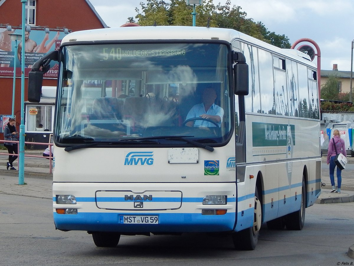 MAN ÜL 313 der MVVG in Neubrandenburg am 15.09.2017