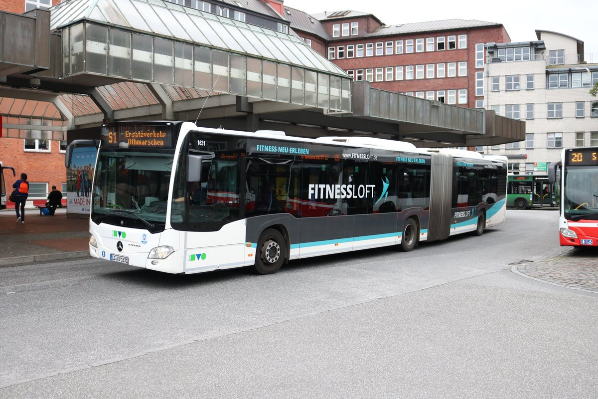 Mercedes Benz Citaro 2 G am 14.07.19 in Hamburg Altona als SEV der Linie S1