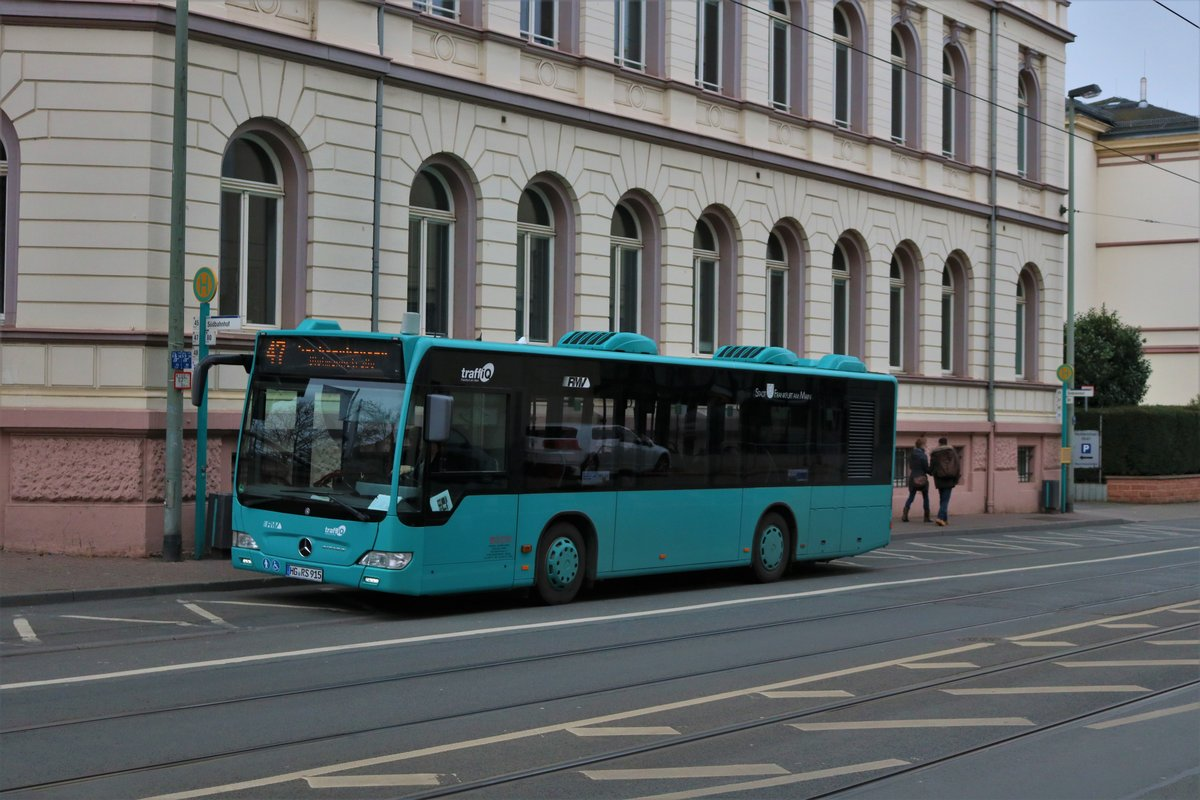 Mercedes Benz Citaro K am 09.03.19 in Frankfurt am Main Südbahnhof