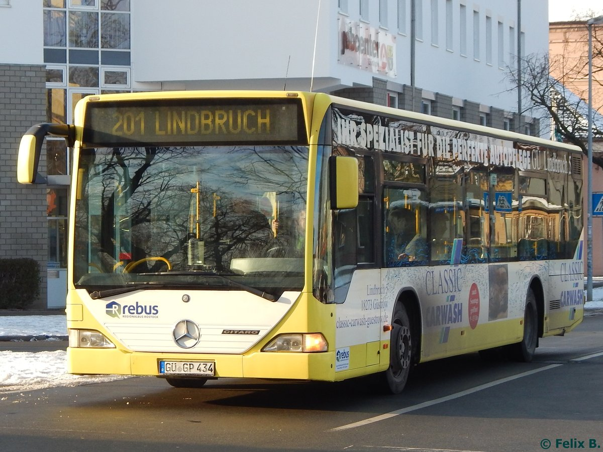 Mercedes Citaro I von Regionalbus Rostock in Güstrow am 18.01.2017