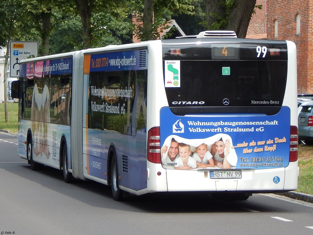 Mercedes Citaro II der VVR in Stralsund am 22.07.2018