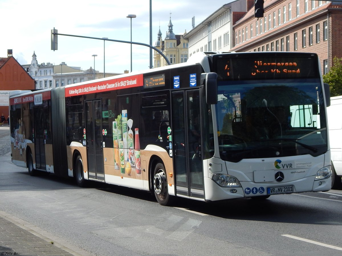 Mercedes Citaro III der VVR in Stralsund am 25.08.2017