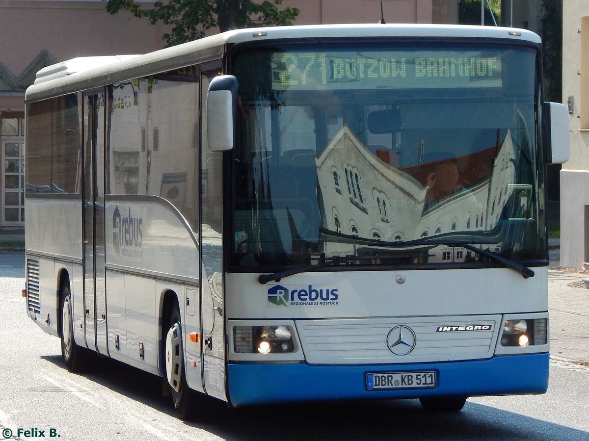 Mercedes Integro von Regionalbus Rostock in Güstrow am 13.09.2016