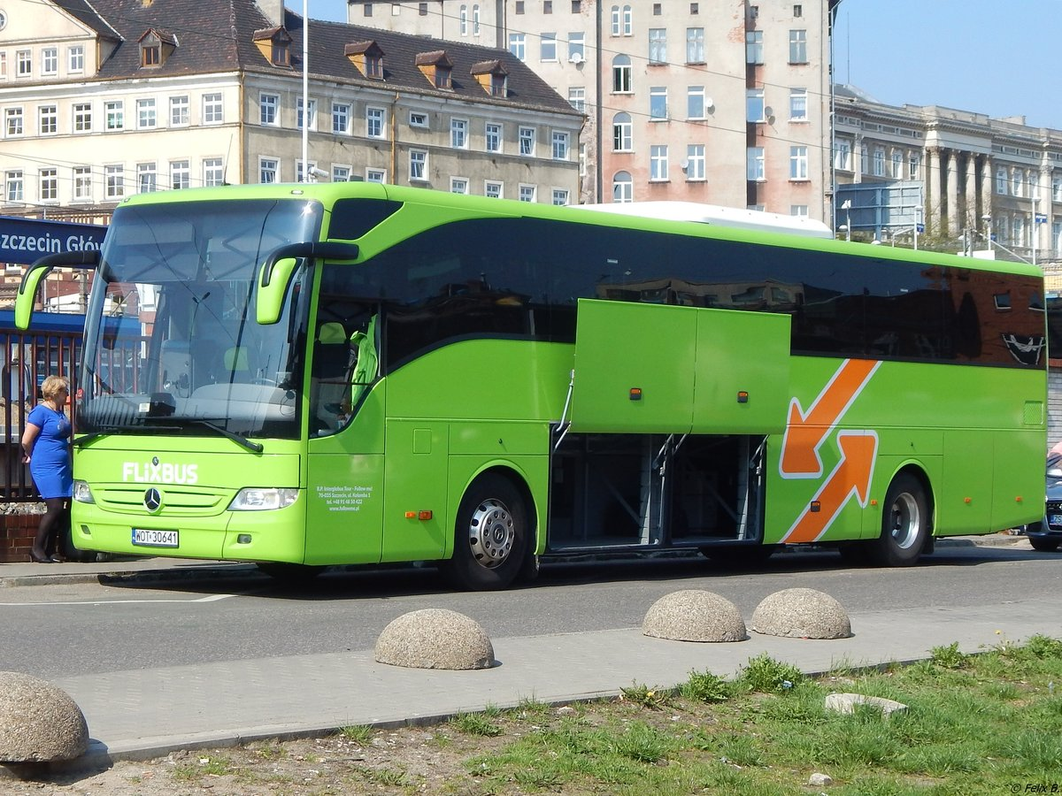 Mercedes Tourismo von Flixbus/Follow Me! aus Polen in Stettin am 18.04.2018