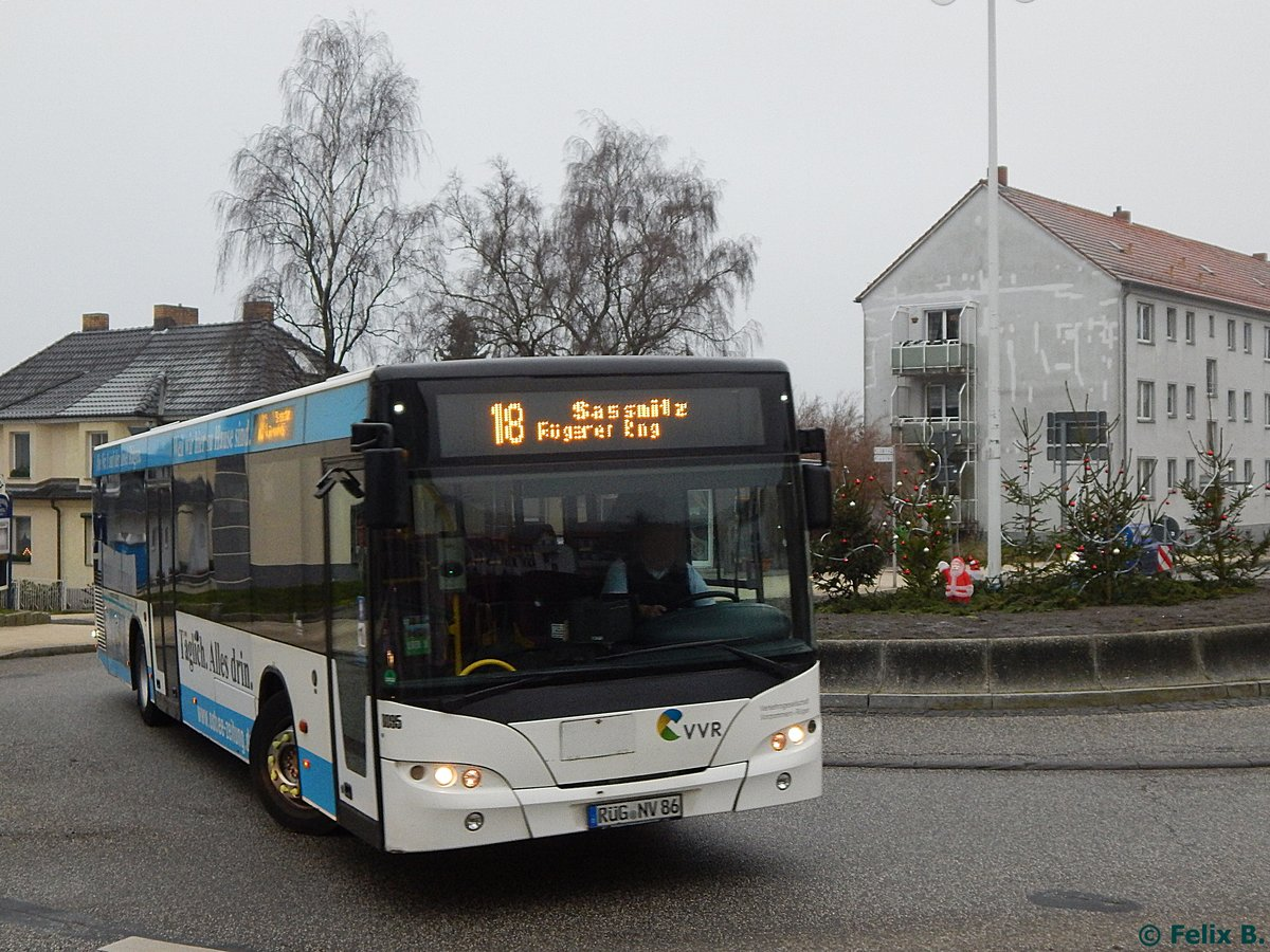 Neoplan Centroliner Evolution der VVR in Sasnitz am 17.12.2016