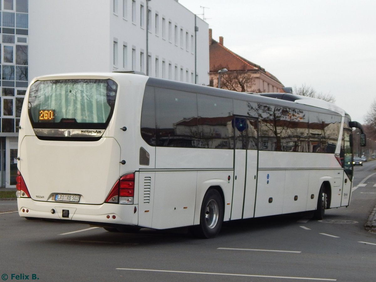 Neoplan Jetliner von Regionalbus Rostock in Güstrow am 23.11.2016