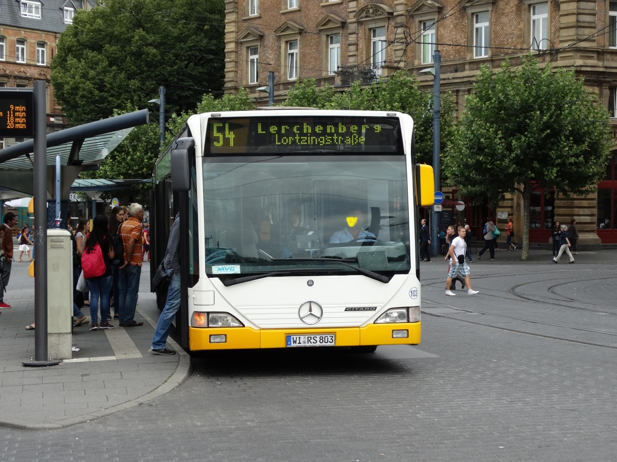 Netinera/Sippel Autobus Mercedes Benz Citaro C1 G am 19.08.15 in Mainz