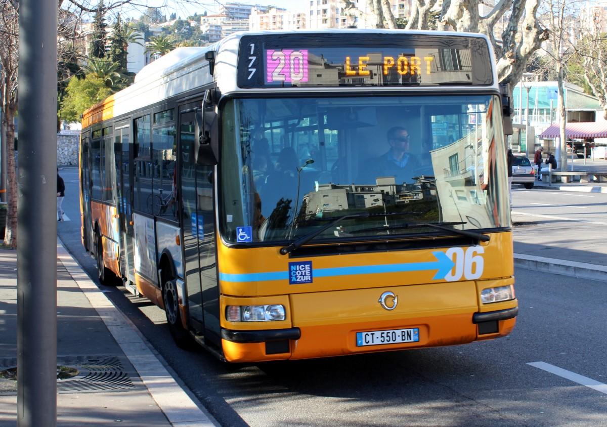 nice nizza lignes d 39 azur buslinie 20 place de la fontaine du temple am 11 februar 2015 bus. Black Bedroom Furniture Sets. Home Design Ideas