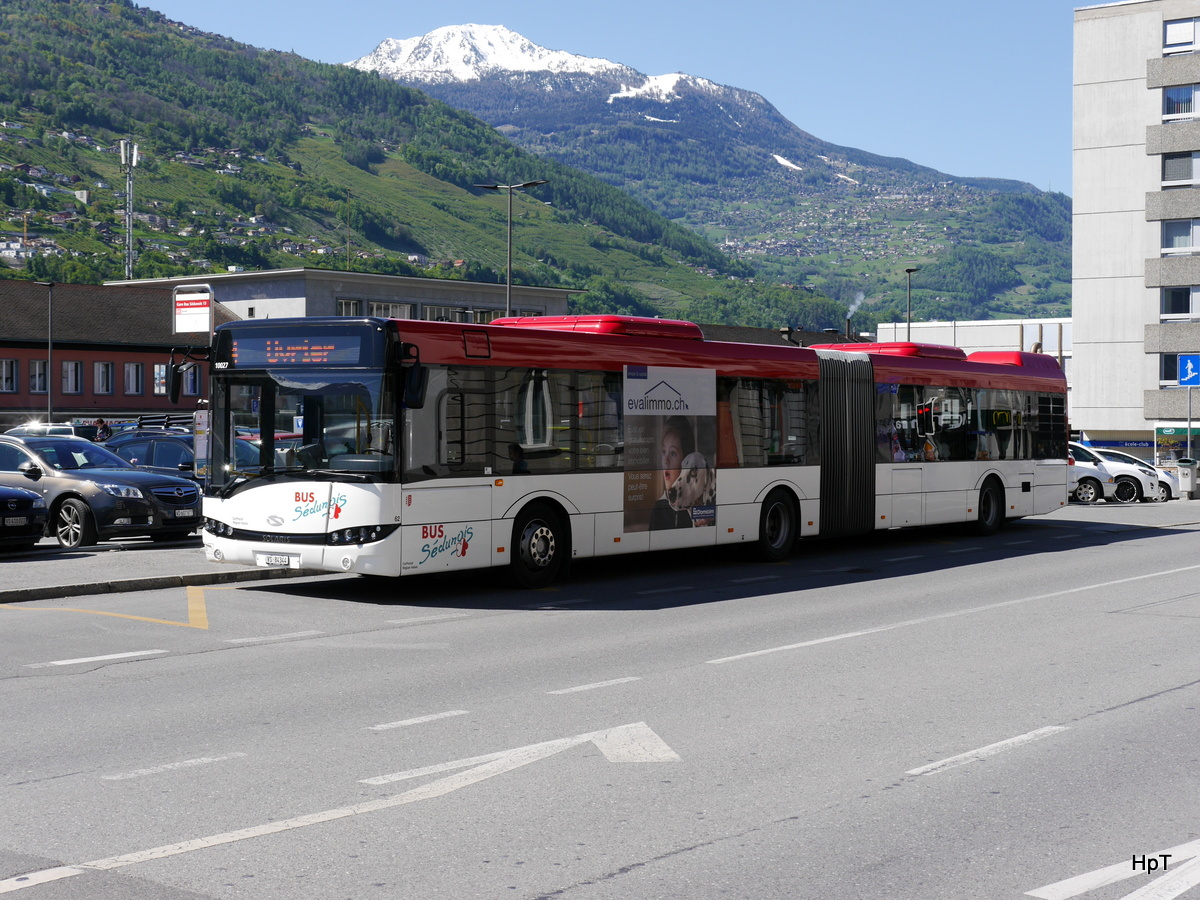 Ortsbus Sion / Postauto - Solaris  Nr.62  VS  84344 unterwegs in Sion am 05.05.2017