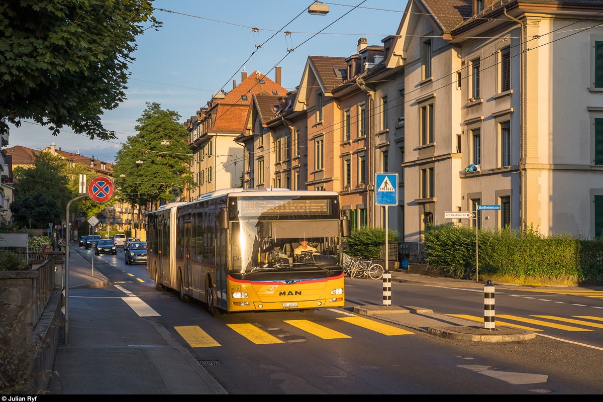 Postauto Bern MAN Lion's City in der Länggasse am 6. Juli 2019.