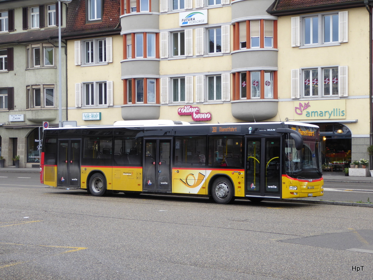 Postauto - MAN Lion`s City  AG  6765 in Brugg am 16.01.2016