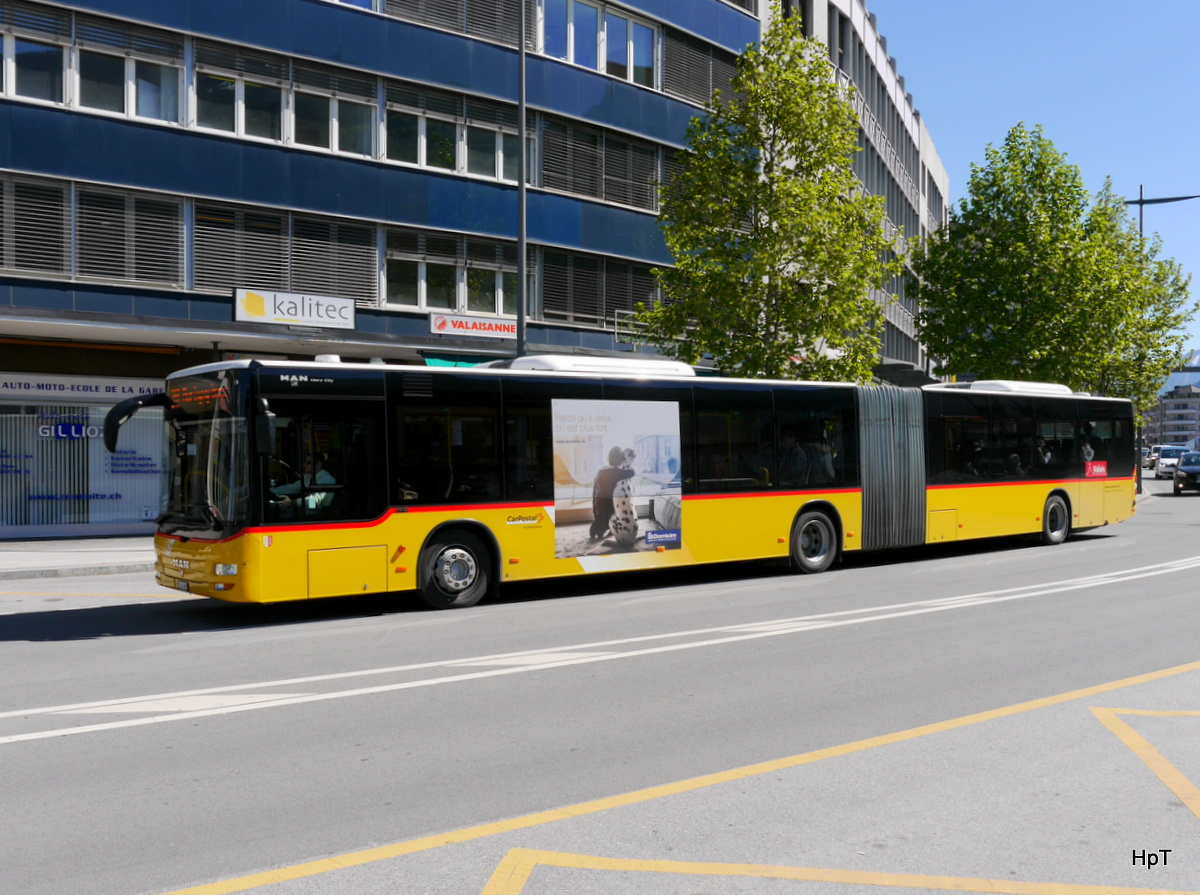 Postauto - MAN Lion`s City  VS 243999 unterwegs in Sion am 05.05.2017
