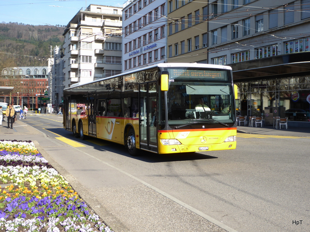 Postauto - Mercedes Citaro  BE  639515 unterwegs in Biel am 28.03.2017