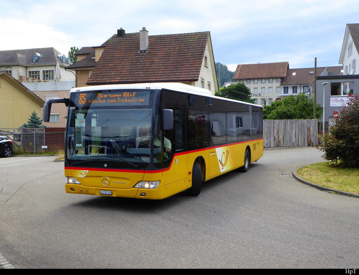 Postauto - Mercedes Citaro  LU  232193 in Schöftland am 12.07.2019