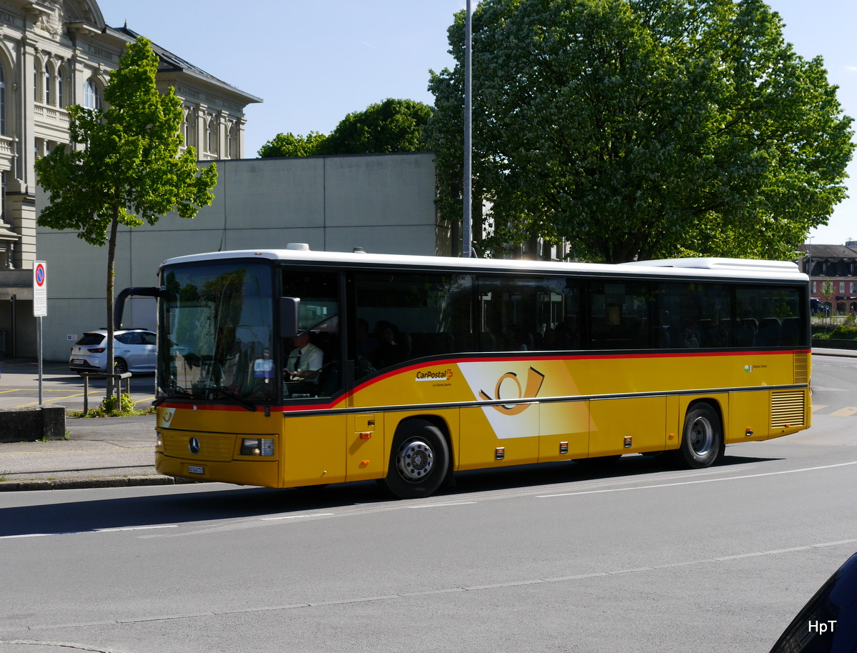 Postauto - Mercedes Travego  VD  548723 unterwegs in Yverdon les Bains am 09.05.2017