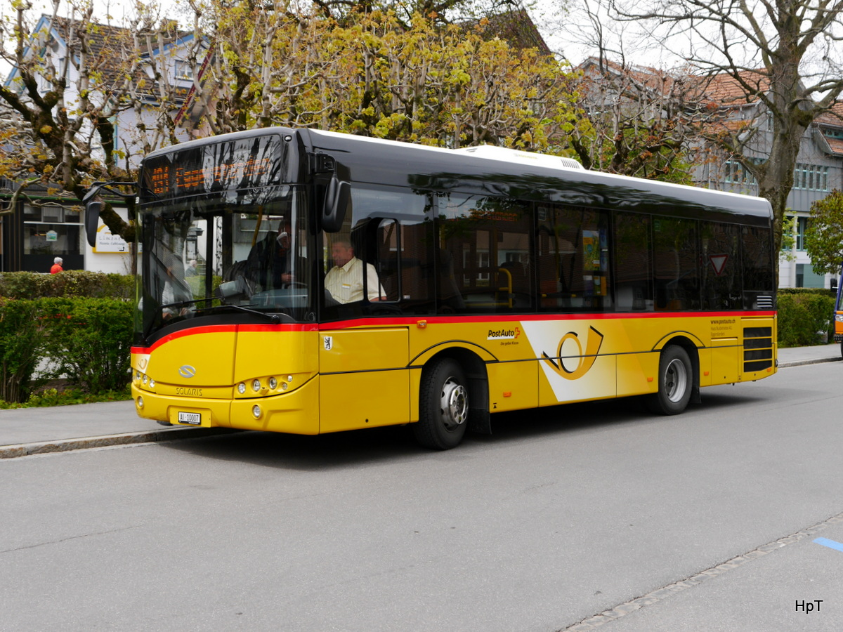 Postauto - Solaris  AI 10007 in Appenzell am 11.05.2017