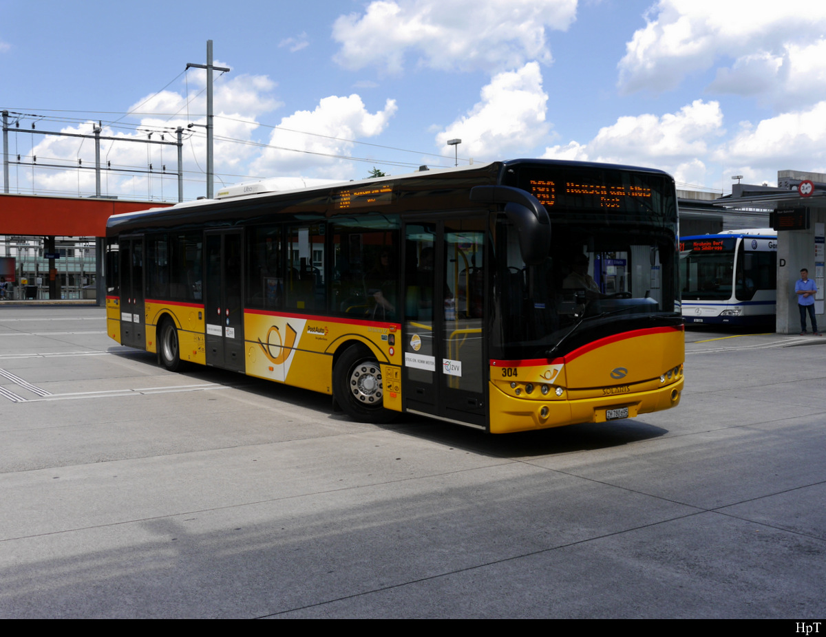 Postauto - Solaris  ZH 780695 unterwegs in Baar am 03.08.2019