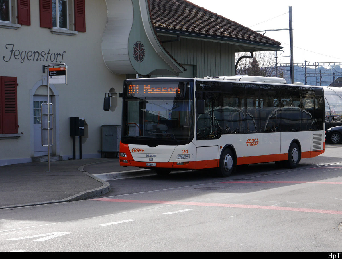 RBS - MAN Lion`s City  Nr.24  BE  535324 in Jegenstorf am 20.02.2020