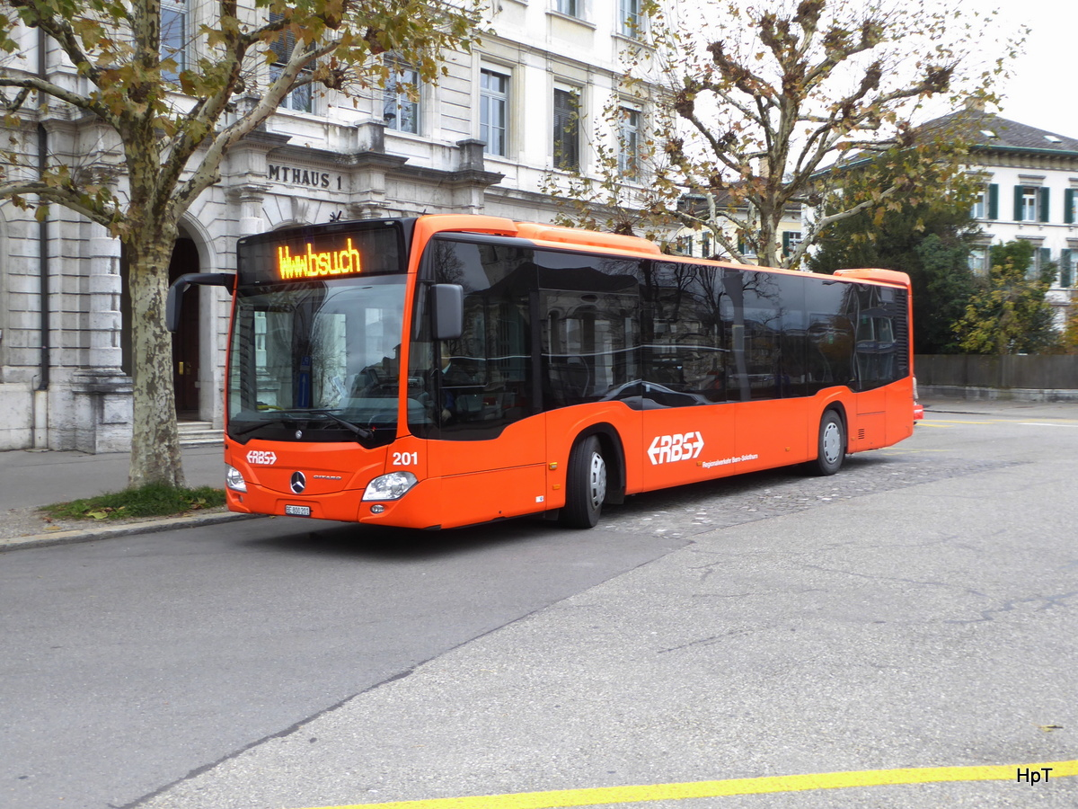 RBS - Mercedes Citaro  Nr.201  BE  800201 in der Pause in Solothurn am 18.11.2017